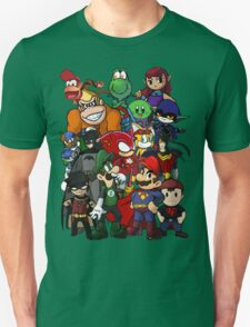 The Justice League of Nintendo and Sidekicks T-Shirt
