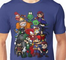 The Justice League of Nintendo and Sidekicks Unisex T-Shirt