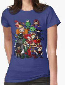 The Justice League of Nintendo and Sidekicks Womens Fitted T-Shirt