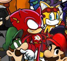 The Justice League of Nintendo and Sidekicks Sticker