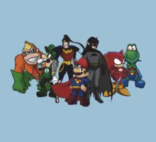 The Justice League of Nintendo Baby Tee