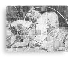 Lippizaner Grid Drawing Canvas Print
