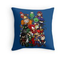 The Justice League of Nintendo and Sidekicks Throw Pillow