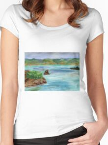 Pastel Painting-Napa Valley Women's Fitted Scoop T-Shirt