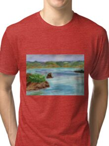 Pastel Painting-Napa Valley Tri-blend T-Shirt