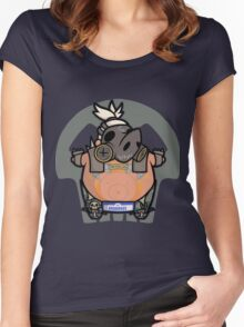 Apocalyptic Pig Women's Fitted Scoop T-Shirt