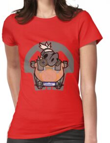 Apocalyptic Pig Womens Fitted T-Shirt