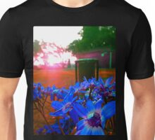 The blues in flowers Unisex T-Shirt