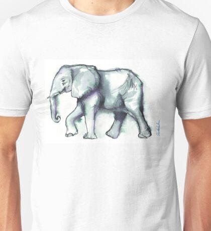 Elephant Watercolor Sketch, 2 Unisex T-Shirt