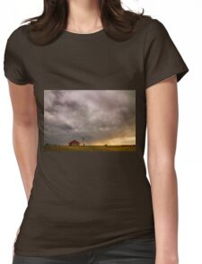 Stormy Skies On The Colorado Plains Womens Fitted T-Shirt