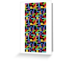 Tetris Blocks Game Over Greeting Card