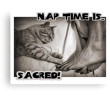 Nap time is...sacred! Canvas Print