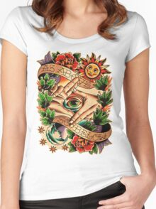 As Above So Below I Women's Fitted Scoop T-Shirt