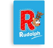 'R' is for Rudolph! Canvas Print