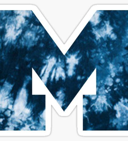 Blue and White Tie Dye M Sticker