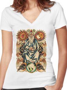 GOD I Women's Fitted V-Neck T-Shirt