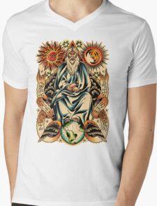 GOD I Mens V-Neck T-Shirt