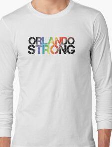 Orlando Strong - Black Rainbow Long Sleeve T-Shirt