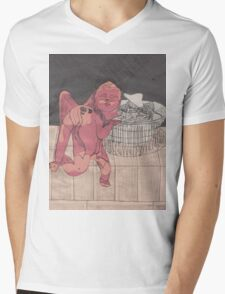 Mixed Media Cupid Mens V-Neck T-Shirt