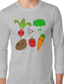 Chibi Veggies Long Sleeve T-Shirt