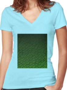 Rhaegal Scales Women's Fitted V-Neck T-Shirt