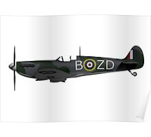 Spitfire Side View Poster