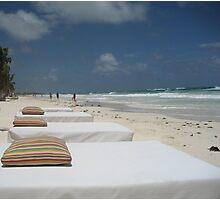 Beach Beds, Tulum Photographic Print