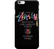 Stussy Colorful Foil Logo! iPhone Case/Skin