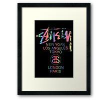 Stussy Colorful Foil Logo! Framed Print