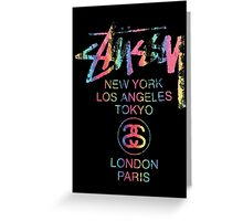 Stussy Colorful Foil Logo! Greeting Card