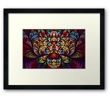 Elliptic Splits Rainbow Framed Print