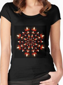 A LIGHT IN THE DARK Women's Fitted Scoop T-Shirt