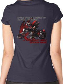 Shadow the Hedgehog - If the world chooses... Women's Fitted Scoop T-Shirt