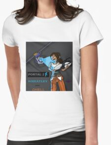 Chell and Wheatley Womens Fitted T-Shirt