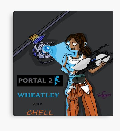 Chell and Wheatley Canvas Print