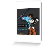 Chell and Wheatley Greeting Card