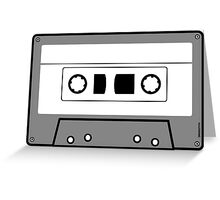 Cassette Tape - Vintage Retro Audio Greeting Card