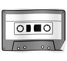 Cassette Tape - Vintage Retro Audio Poster