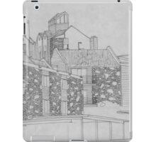 Stone apartment complex drawing iPad Case/Skin