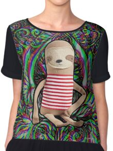 Trippy Sloth no. 3 Chiffon Top