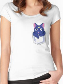 Pocket Guardian: Luna Women's Fitted Scoop T-Shirt