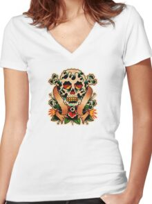 Spitshading 059 Women's Fitted V-Neck T-Shirt