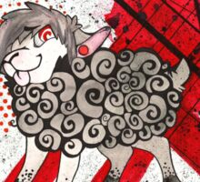 Trash Polka Sheep Sticker