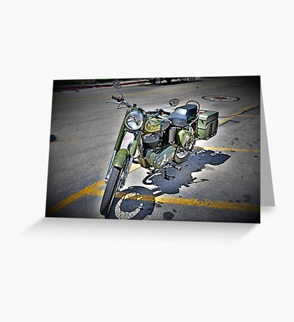Motorcycle Mania Greeting Card
