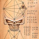 Skull Pyramid-Page from the Book of Gosh by ARTmuffin