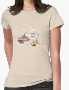 Mickey's Mountain Climber Womens Fitted T-Shirt