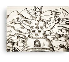 Moloch, copy of an illustration from 'Oedipus Aegyptiacus'  Canvas Print