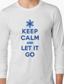 Keep Calm and Let It Go (light background) Long Sleeve T-Shirt