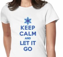 Keep Calm and Let It Go (light background) Womens Fitted T-Shirt
