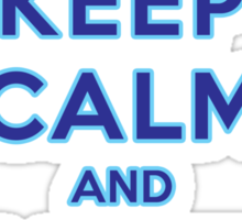 Keep Calm and Let It Go (light background) Sticker